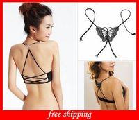 Wholesale Nice Fashion Underwear Bra Straps Bra Belt Butterfly Hollow Strap Invisible Adjustable Straps Sexy