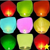 Wholesale 8 color Wishing Lantern fire balloon Chinese Kongming lantern Wish Lamp Sky Lanterns