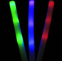 Wholesale LED Foam Stick cm Flashing glow stick light cheering Glow Foam Stick Party Supplies