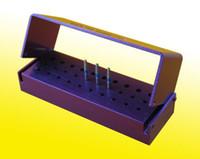 Wholesale PC New Holes Dental Bur Holder Stand Autoclave Sterilizer Case Purple