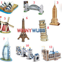 Wholesale Hot New D Jigsaw Puzzle Cubic Fun World Famous Building Kid s Educational Toy