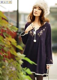 Womens vestidos mais o vestido de tamanho maternidade moda outono vestido de festa vestido de camisola de malha vestido 125