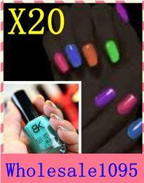 Wholesale 20pcs nail it nail polish bk luminous nail polish neon luminous polychromatic multicolour