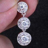 Wholesale Bulk Circle White Topaz Fashion Silver Pendant Pd0121 Yin