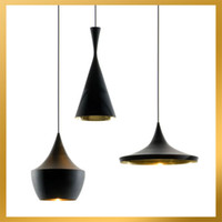 Wholesale Tom Dixon Beat Light Tall Fat Wide lamps Black White Aluminum Pendant Lamp Chandelier