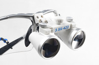 Cheap Dentist Silver Dental Surgical Medical Binocular Loupes 3.5X 420mm Optical Glass Loupe