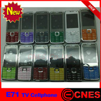 Wholesale Hot sale Mini E71 TV Cellphone Unlocked GSM Quad Band Dual SIM Mobile Phone