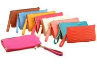 Wholesale 2012 Lady leisure handbag Waves Wedding Evening party PU leather zipper wallet Purse Shoulder bags
