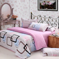 Wholesale 100 cotton Printed Soften Bedding Set Creative Quilt Cover Flat Sheet Housewife Pillowcase