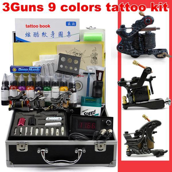 Hot sale tattoo kits set tattoos guns power ink 30ml grip for Tattoo gun kits for sale