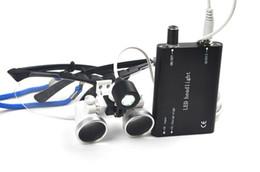 Wholesale NEW X420mm Dental Medical Binocular Loupes Optical Glass Loupe LED Head Light Lamp Black HOT SALE