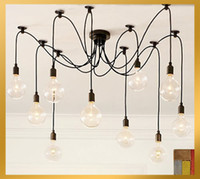 Wholesale SimpleStyle Edison Chandelier Light Pendant Lamp10 Lights INCLUDED bulb amp remote control