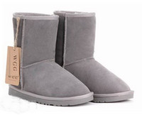 Wholesale WGG Snow Boots Leather Boots Classic Short Canister Gray Boots Women s Winter Boots