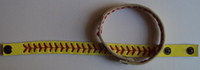 Wholesale high quality real leather softball seam bracelet softball stitch bracelet softball bracelet