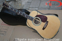 Wholesale D45 Acoustic Guitar Fishman Mic Presys Blend Pickups Solid Spruce China guitar