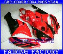 Red black Injection mold fairings for Honda CBR1000RR 2004 2005 CBR1000 CBR 1000RR 04 05 fairing kit