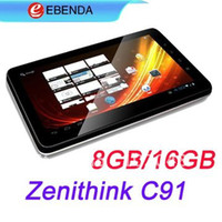 Wholesale 10 inch zenithink c91 ZT cortex a9 tablet pc capacitive GB GB