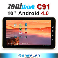 Wholesale 10 quot zenithink C91 android zt280 Capacitive Multi touch WiFi HDMI GB Cortex A9 tablet pc