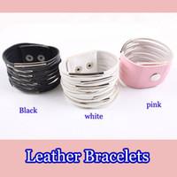 Wholesale Vintage Leather Bracelets punk cheap charms Muliti Bangles hot Great Gift women men fashion jewelry