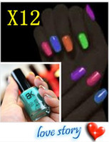 luminous nail polish luminous nail polish 7ml Bk eco-friendly luminous nail polish oil matt heterochrosis neon nail polish oil candy color