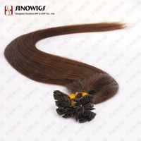 "brown straight 0.6 500S 16"" -24""Pre Keratin Flat-Tipped Human Hair Extensions #4 medium brown ,0.6g s 60g set"