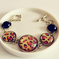 Wholesale Retro Classic Punk Leopard Dot Texture Bracelets