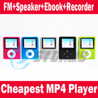 Sports Yes Games 1.8 inch MP3 MP4 Player +Speaker+ FM+Voice Recorder with card slot Free Shipping 5 colors
