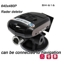 Wholesale SH616 car camera car DVR video recorder with Radar Detector Can Be Connected to Navigation black box