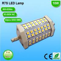 T3 J R7S 5W 10W 15W LED LUMIÈRE LAMP BULU 85-265V AC 220V 110V 230V Blanc chaud Remplacer lampe halogène