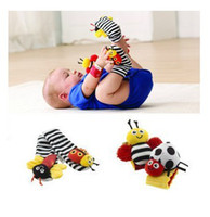 4 Styles - Lamaze Toy Wrist Rattle Foot Finder Ladybug Bee P...