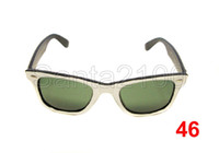 Wholesale 20pairs Brand Mens Womens Classic Sunglasses Designer Glasses White Black mm Green Lens