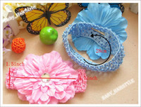 Wholesale 30pcs Baby Peony Flower Hair Alligator Clip Snap Back Headband Kids Hair Accessory Hair Elastic