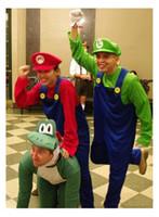 160-175CM Adulte Super Mario Luigi Costume de Mascotte de Fantaisie Partie