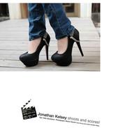 Wholesale Chain Ankle Strap High Heel - Fashion New arriva Black Platform White High Heel Chain Women's wedding evening shoes dress shoes
