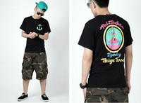 Wholesale PINK DOLPHIN T shirt south beach Black Tee Hot sale Top Icloud