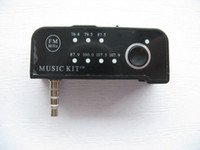 Wholesale 10pcs New Portable Mini Car FM Transmitter Music Kit with mm Plug Black