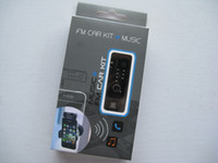 Wholesale Portable Mini Car FM Transmitter Music Kit with mm Plug