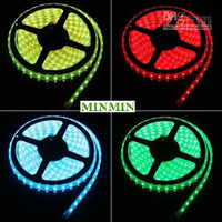 Wholesale 5M Leds RGB LED Strip Lights SMD V Waterproof keys Controller CE ROHS Car light