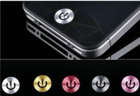 Wholesale Metal home botton sticker for iphone g gs g s ipod touch