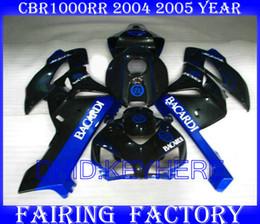blue BACARDI Injection molding for Honda CBR1000RR 2004 2005 CBR1000 CBR 1000RR 04 05 fairing kit