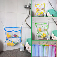 Wholesale baby Bath Toy Bag Bath toys bag bath toy storage sucker toy bag