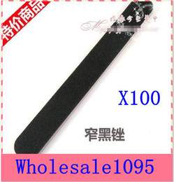 Wholesale Coarse Emery Emery Board Straight Round Black Nail File Nail Art