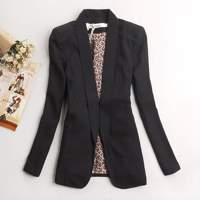 Images of Long Black Blazer Womens - Reikian