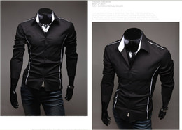 Wholesale NEW men s clothes Casual Slim Men s shirts fashion long sleeve Mens shirts