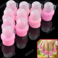 plastic toe cap - Nail Acrylic Wearable Salon DIY UV Gel Polish Remover Soak Soakers Cap Tool New