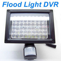 Wholesale 54 LEDs Flood Light PIR Security Camera DVR Video Recorder Auto Lighting and PIR Motion Detect Activated Support Overwrite and Max GB