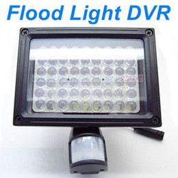 54 LEDs Flood Light PIR Security Camera DVR Video Recorder Auto Lighting and PIR Motion Detect Activated, Support Overwrite and Max 32GB