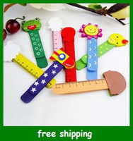 Wholesale Baby cartoon wooden wedding bookmarks Creative animal Bookmark with ruler gifts fast
