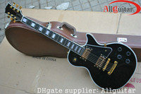 Wholesale black custom shop ebony fingerboard electric guitar gold hardware Chinese China guitar