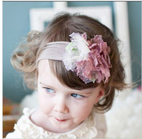 Wholesale 2012 New Arrival Baby Magonilias and Lace snugars HEADBAND with flowers Children s Hair Accessories